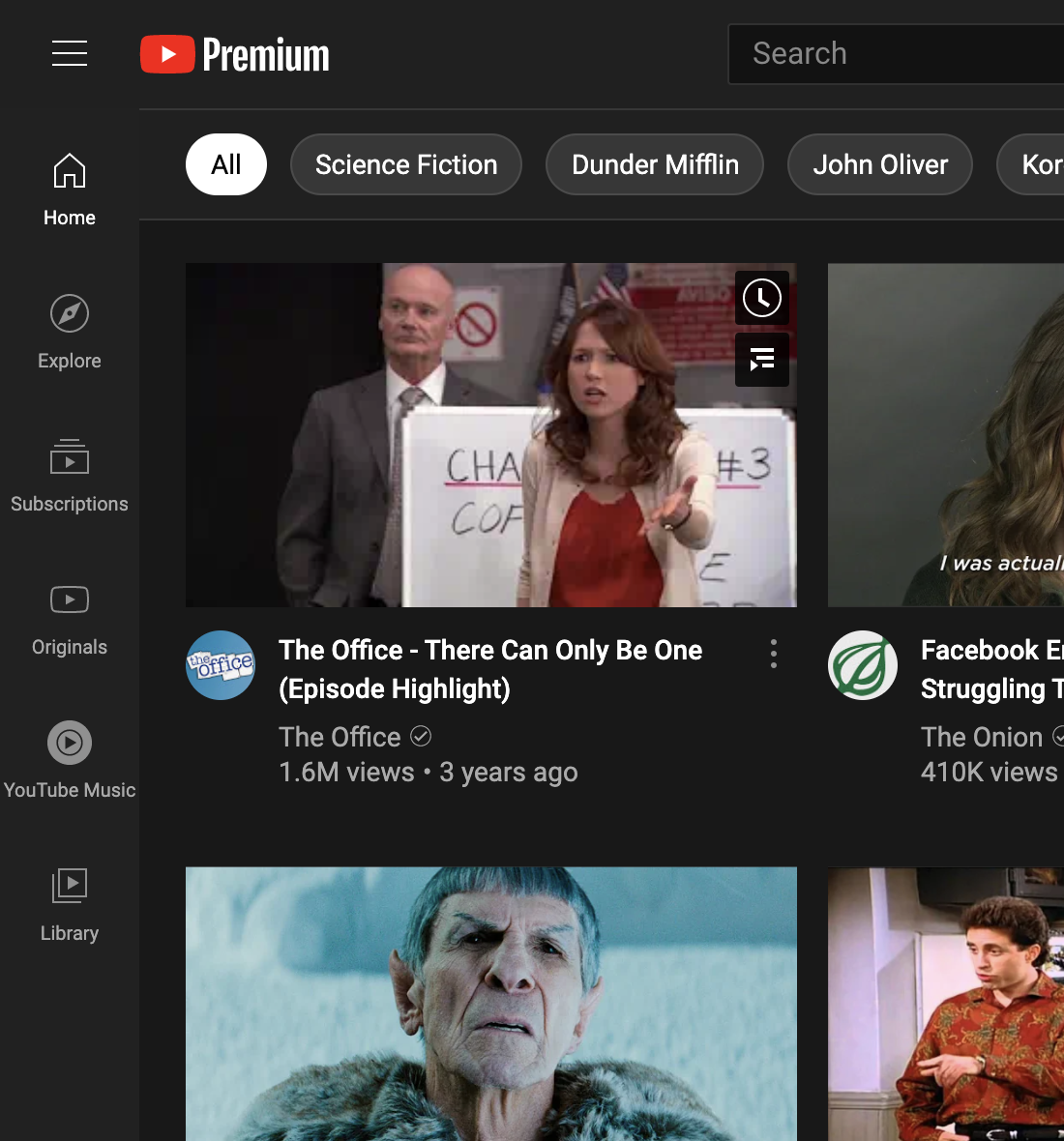 YouTube new icons homepage