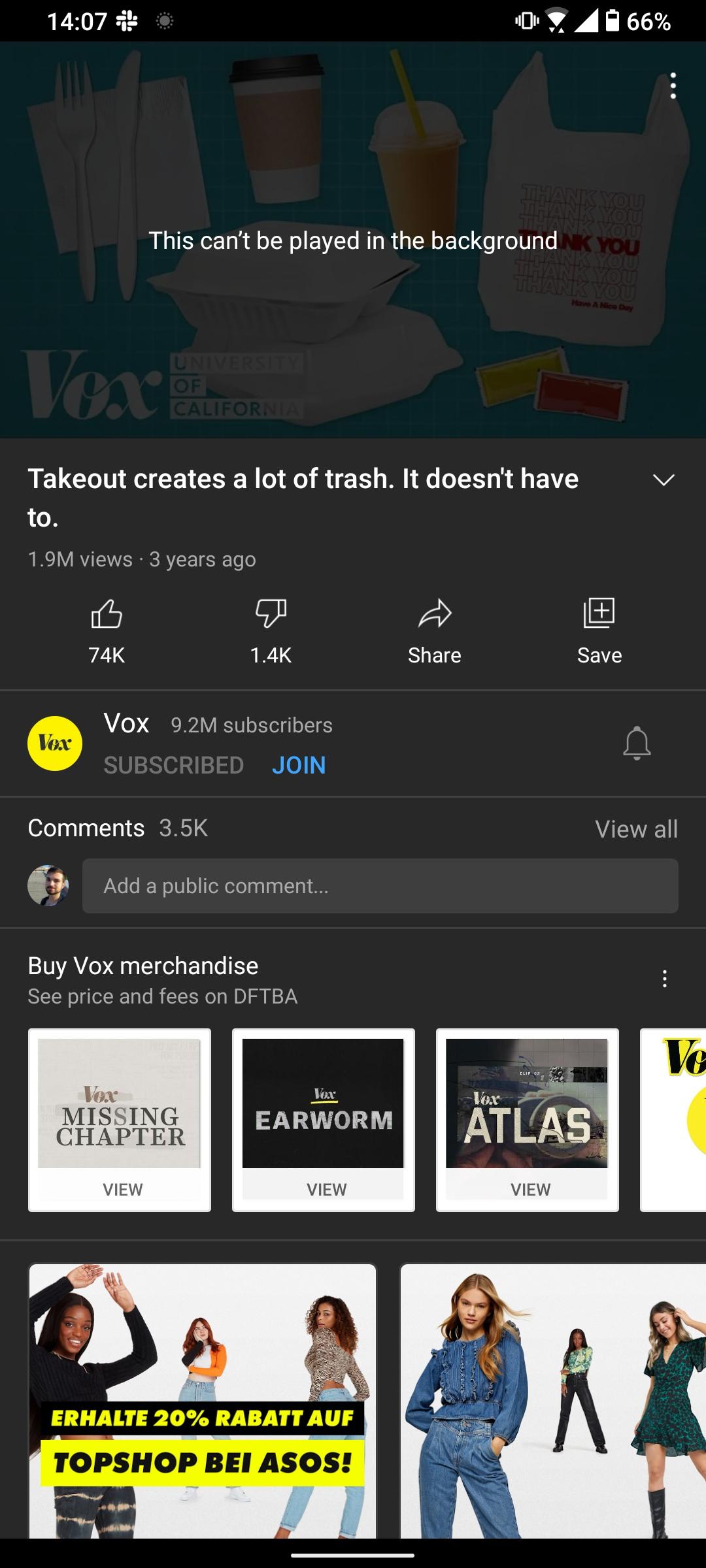 quick response on youtube