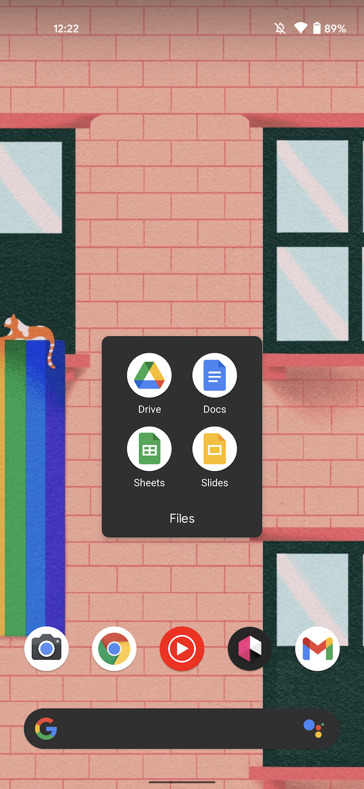 android 12 dp2 folders