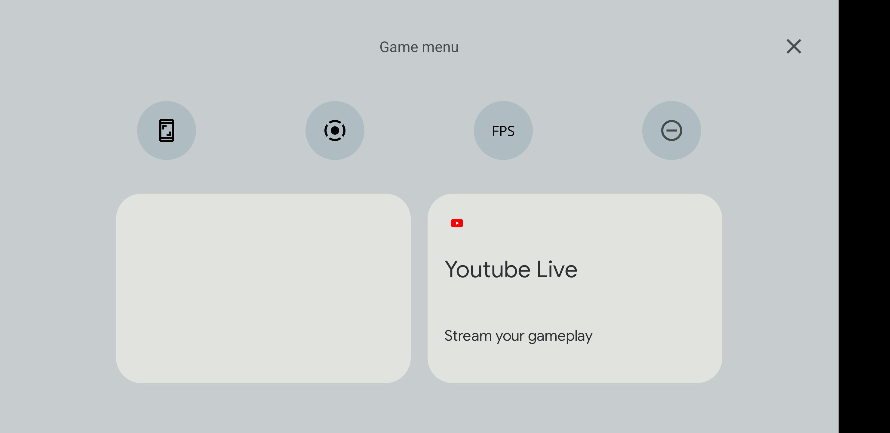 android 12 game dashboard screenshot