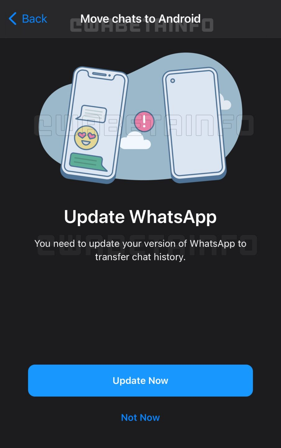 whatsapp chat migration android ios