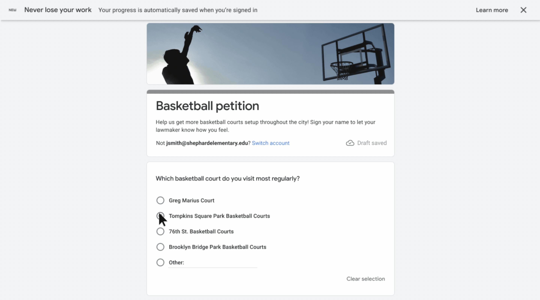 google forms save draft 2