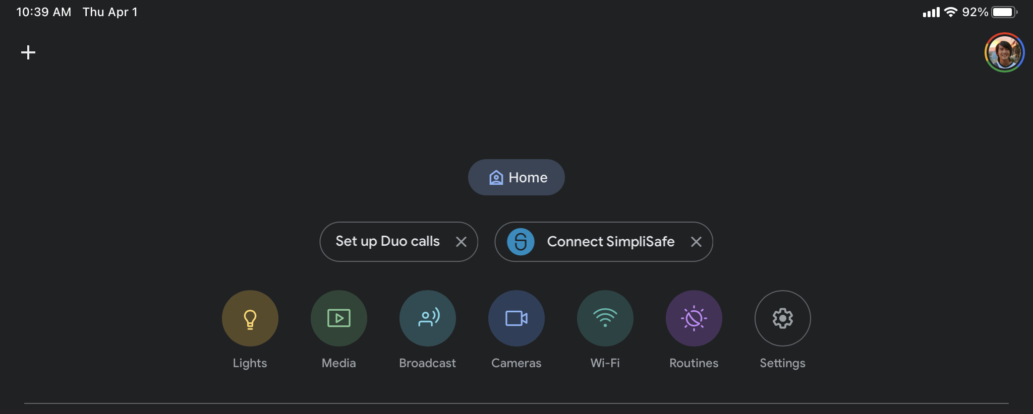 Google Home Connect SimpliSafe