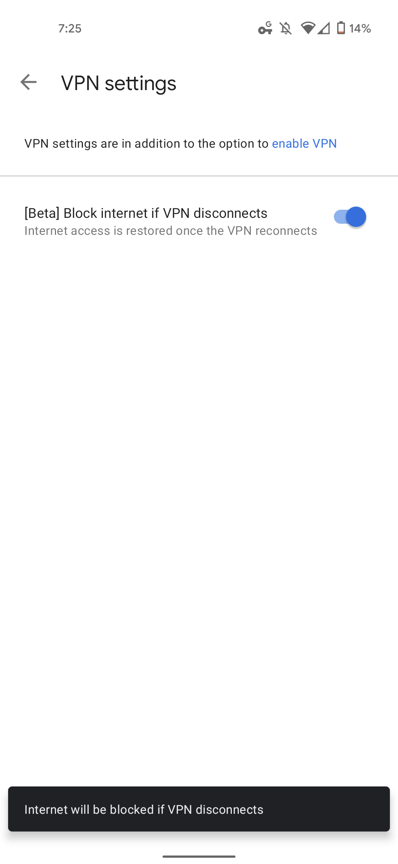 Google One VPN block