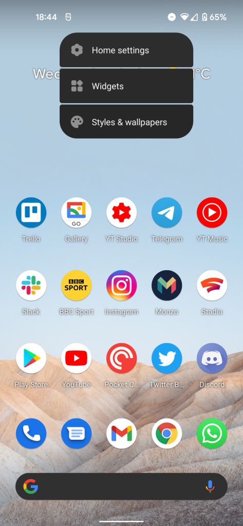 Android 12 UI