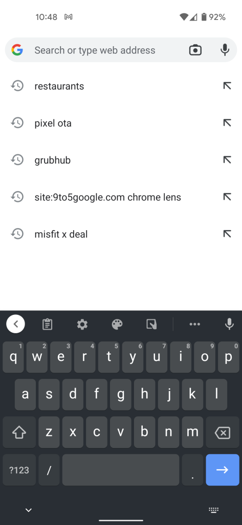 Google Lens in Omnibox of Chrome for Android