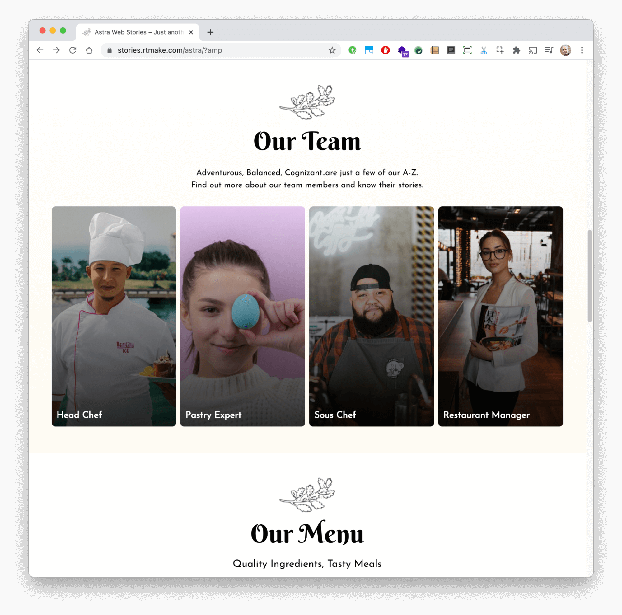 Google Web Stories theme