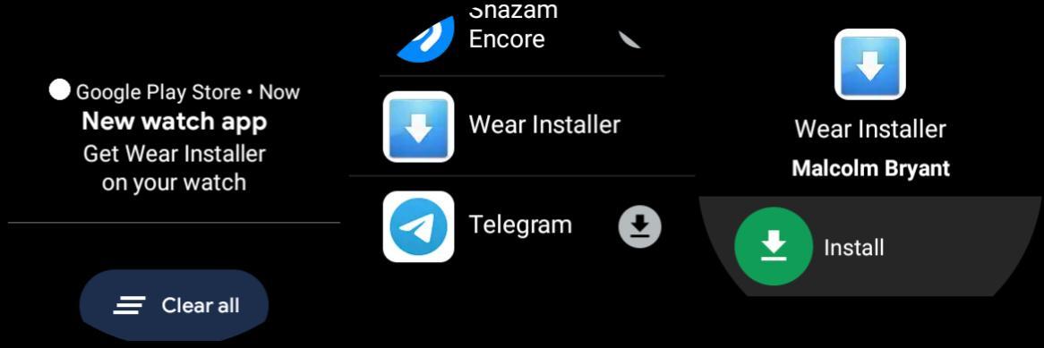Instalar aplicaciones Wear OS