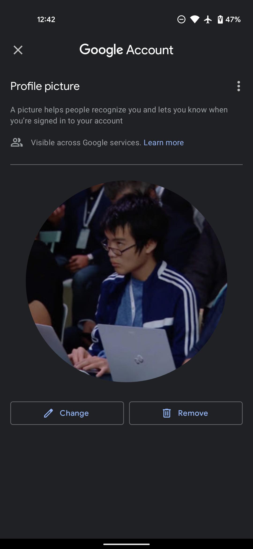 Gambar profil Google di Gmail