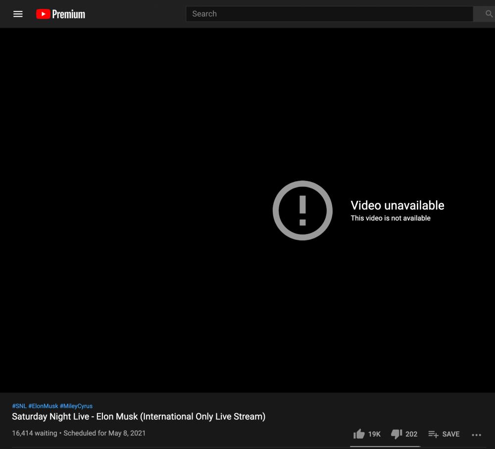 SNL Elon Musk YouTube livestream