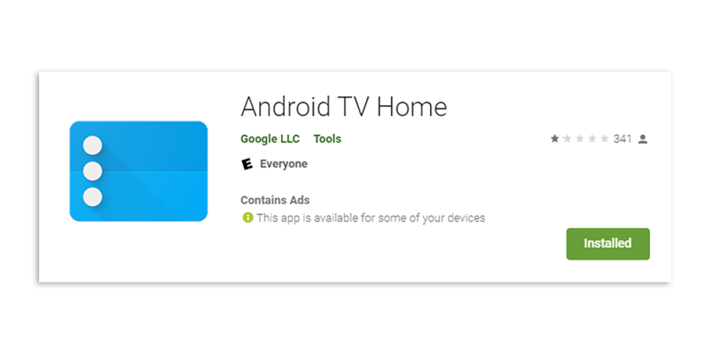 android tv home rating ads
