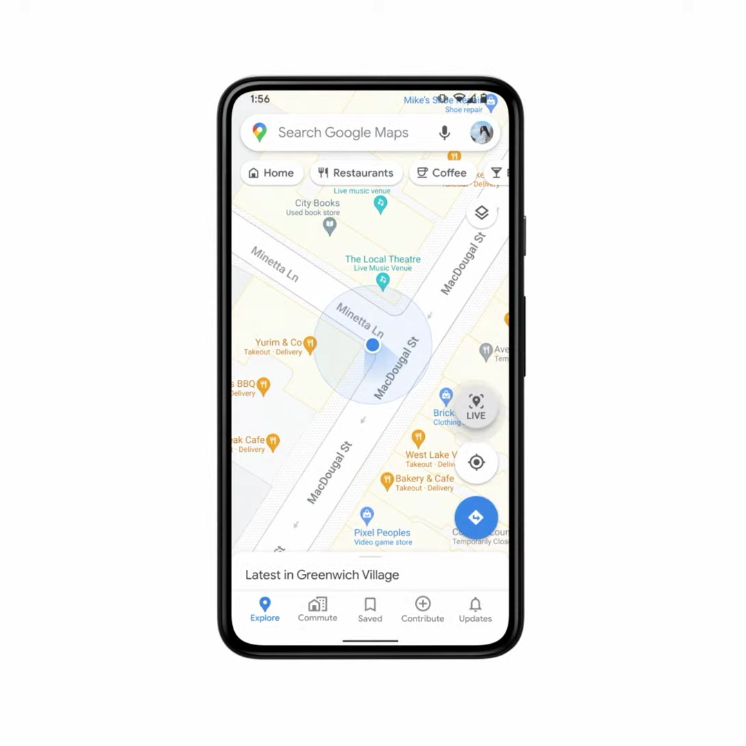 Google Live View explore