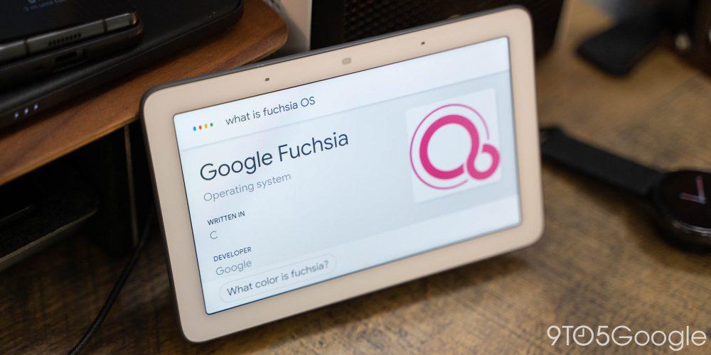 Google Fuchsia OS on a Nest Hub