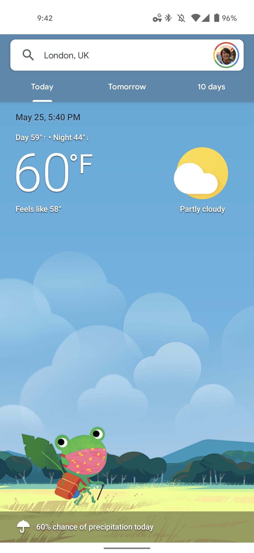 Google Weather redesign