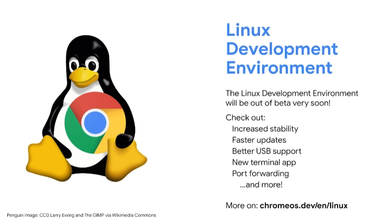 chrome os linux support beta google i/o 2021