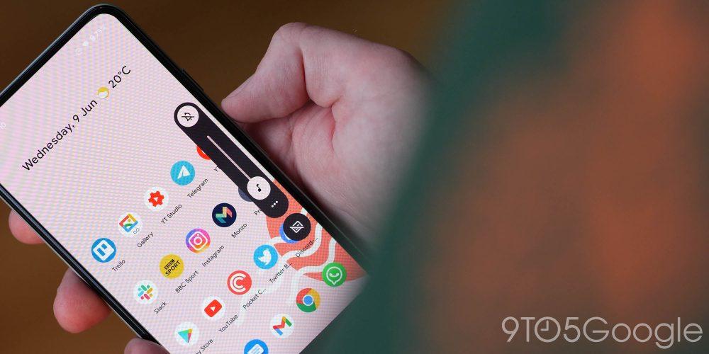 android 12 beta 2 - new volume slider