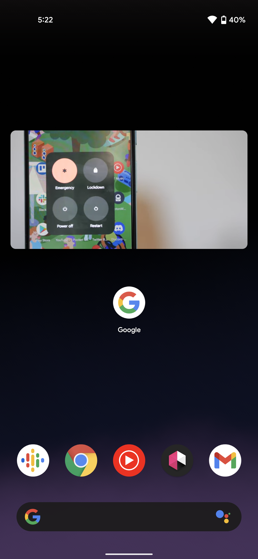 Android 12 picture-in-picture