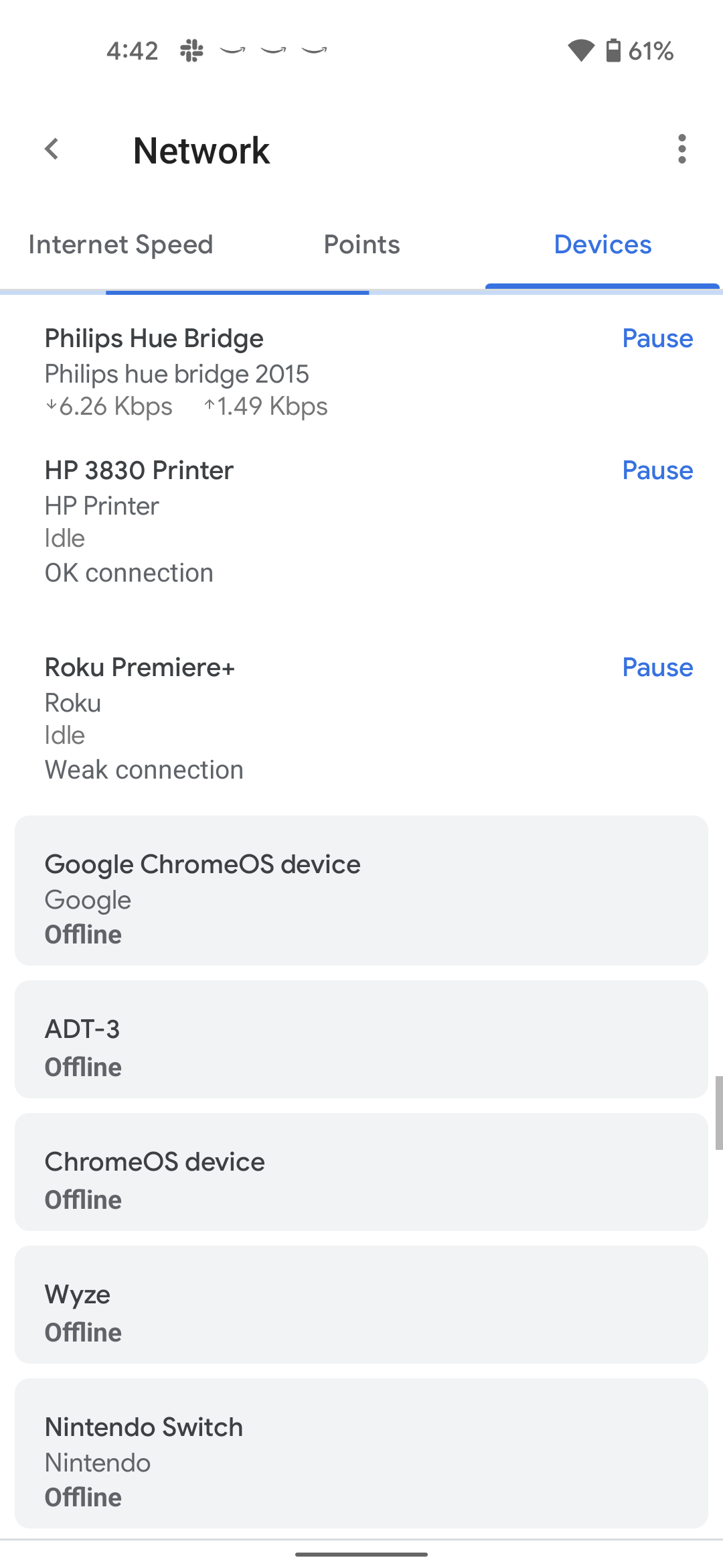 Google Home wifi devices