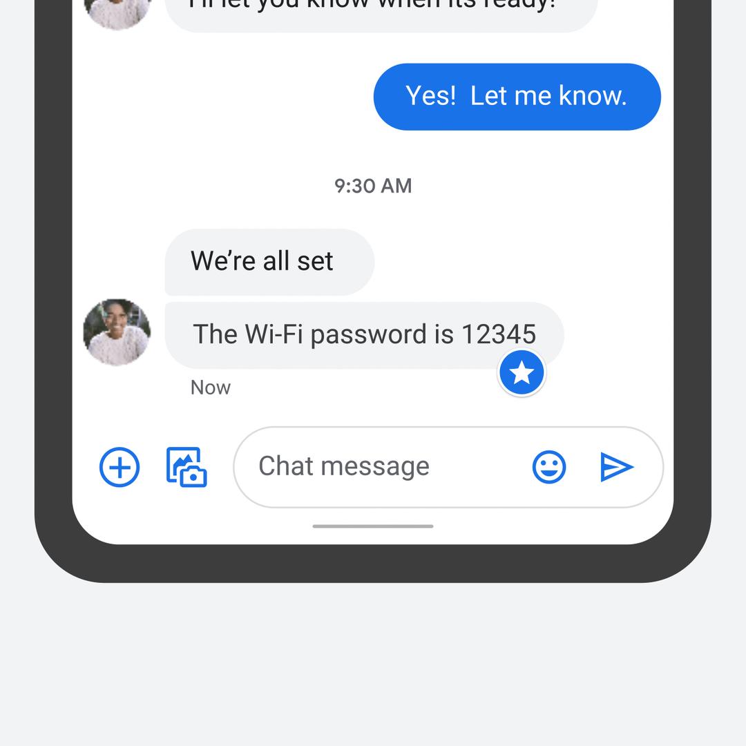 Google Messages star