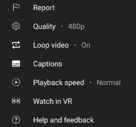 youtube loop mobile