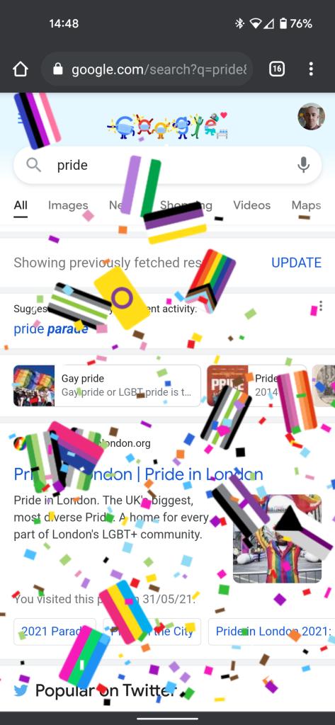 google pride easter egg