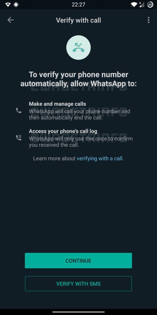 whatsapp verify account