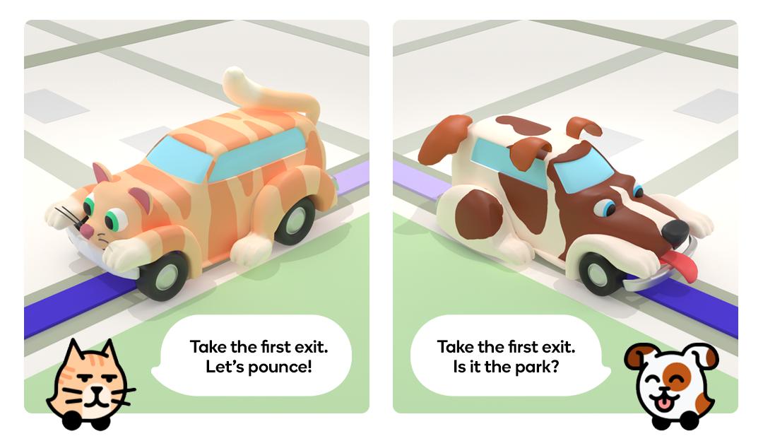 Waze Cat Dog theme