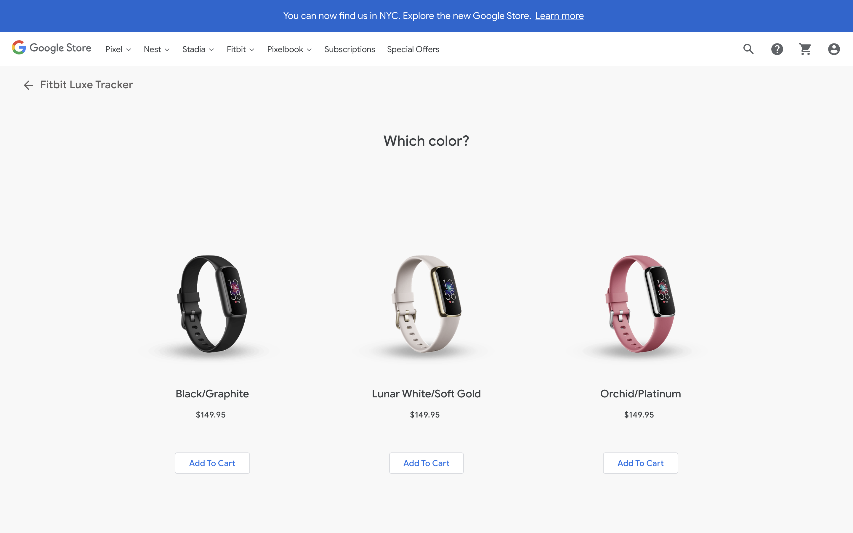 Fitbit Luxe Google Store