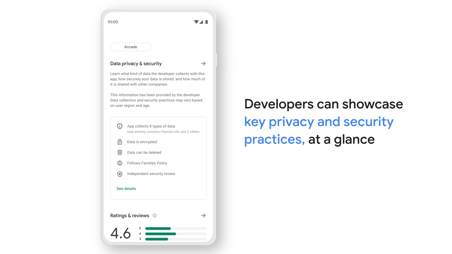 Play Store safety section