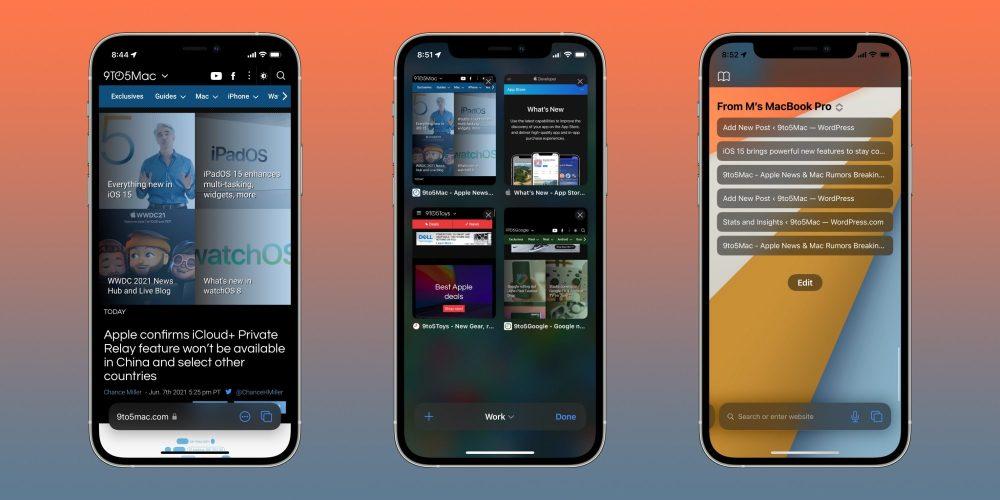 Chrome Safari iOS 15
