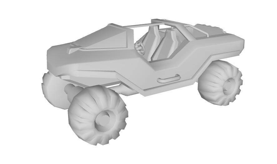 Halo's Warthog vehicle 3D model in Waze