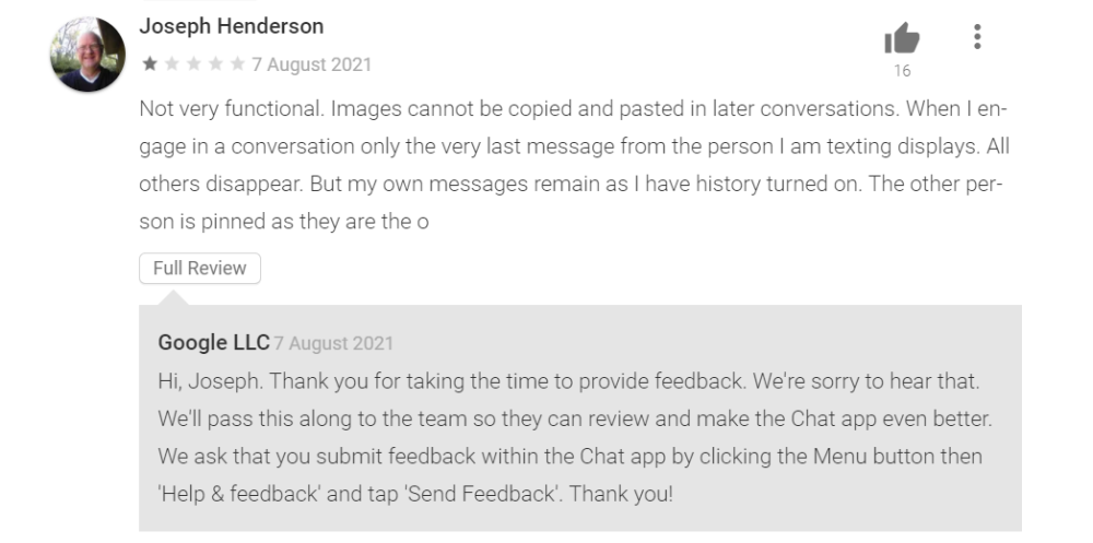 google chat review