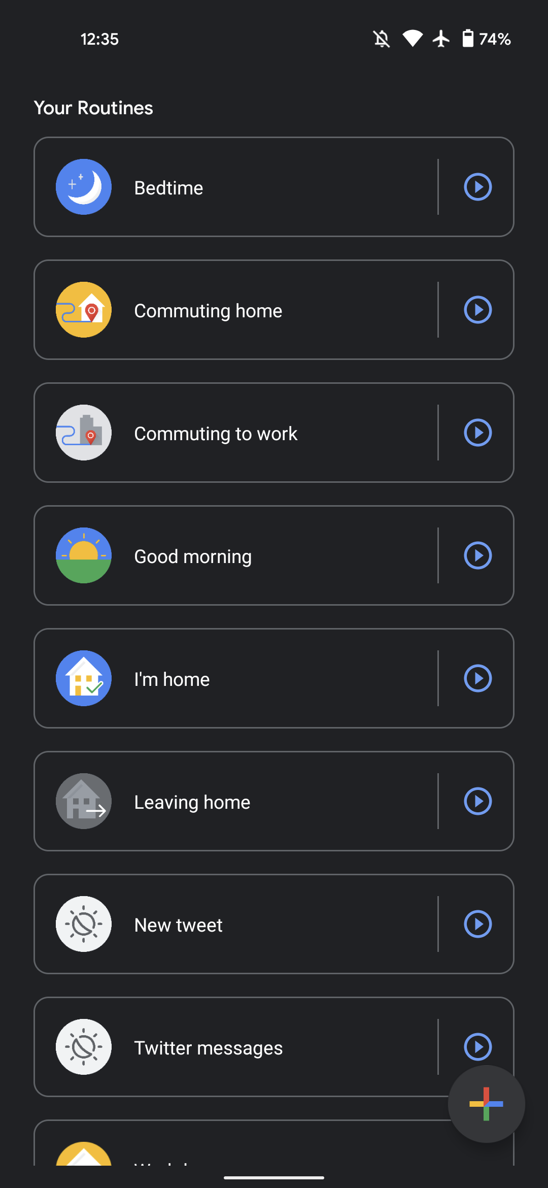 Assistant Routines delay start