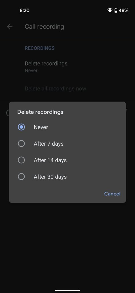 call recording google phone