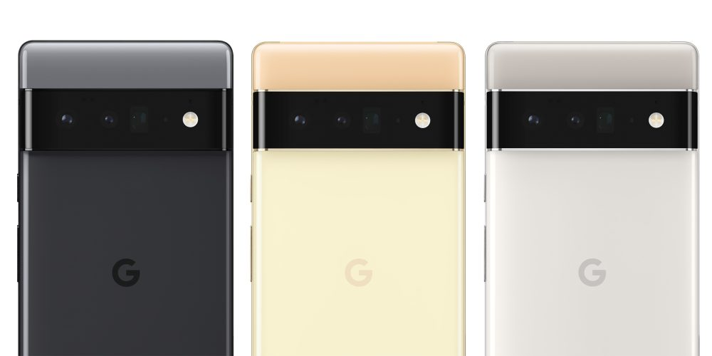 Pixel 6 Pro colors (Black, Gold, and Silver)