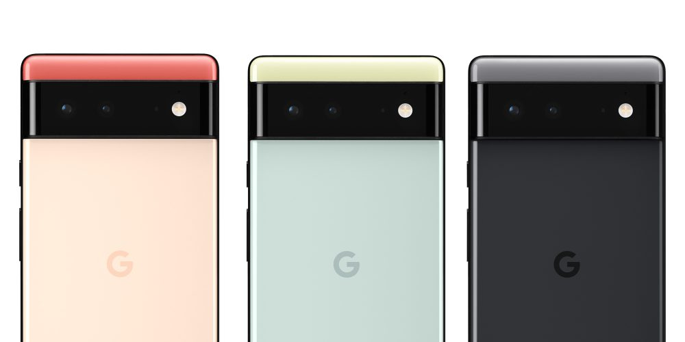 Pixel 6 colors (Red, Green, and Black)