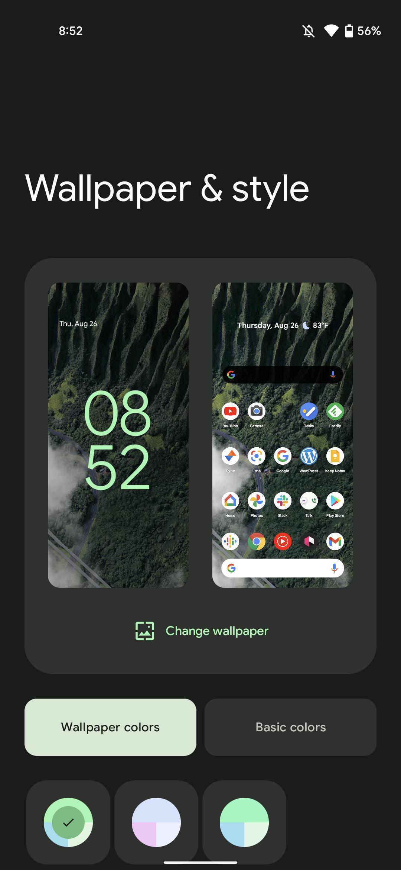 Pixel Live Wallpaper Dynamic Color