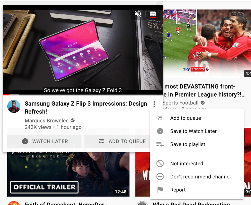 youtube preview player