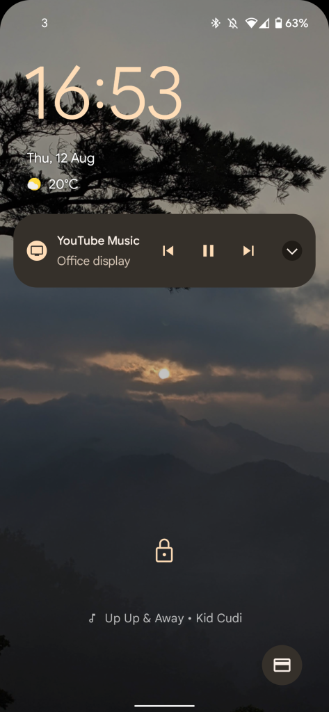 Android 12 - google sans now playing