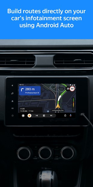 Yandex.Maps on Android Auto