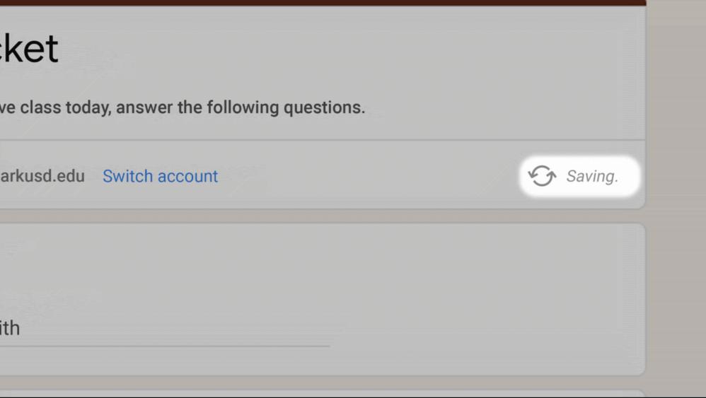 Google Forms save progress