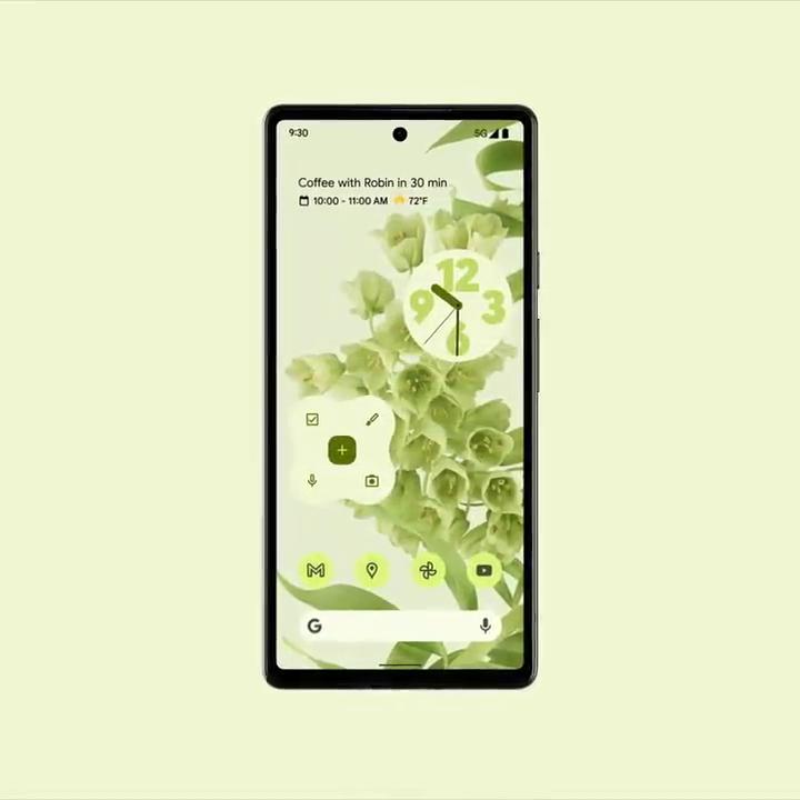 Google Keep Material You widget in teaser video