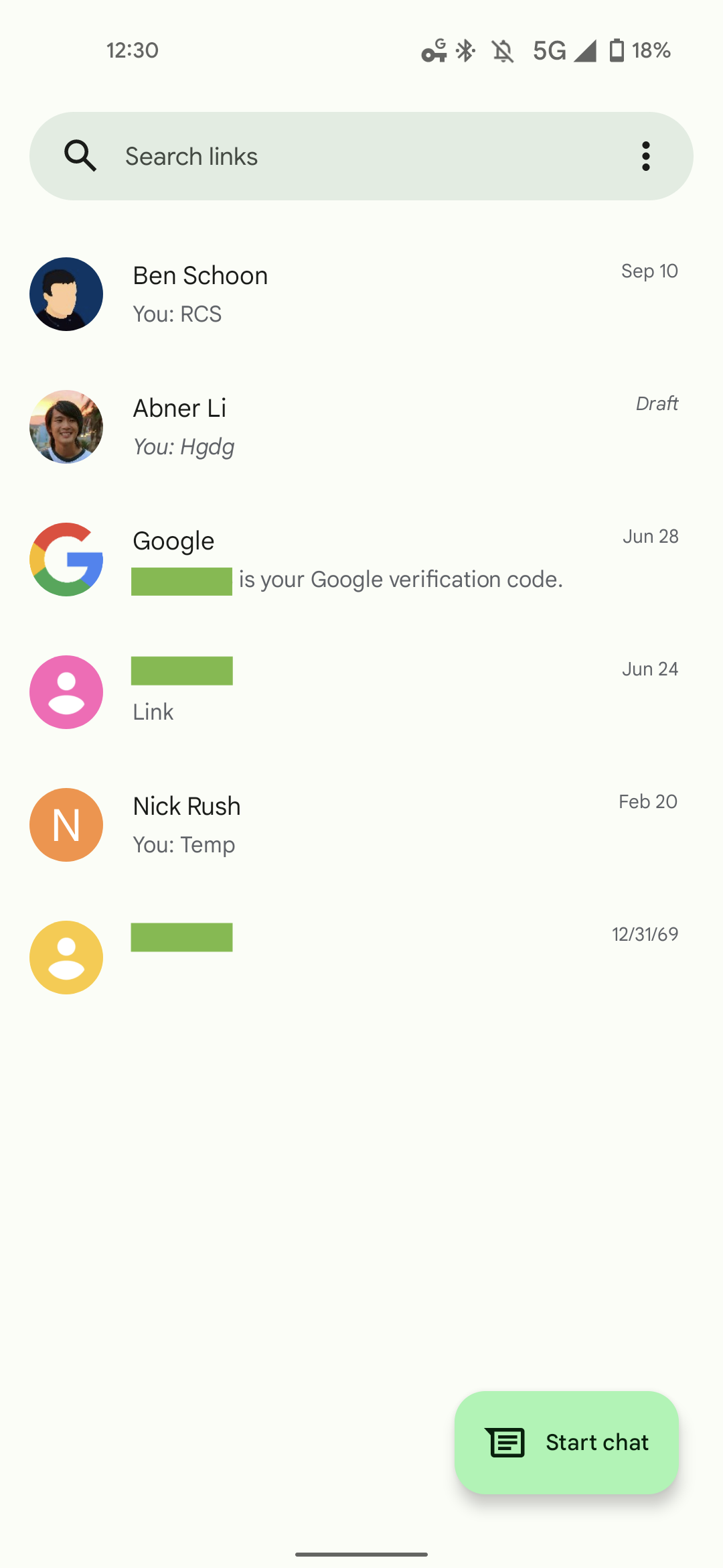 Google Messages Material You