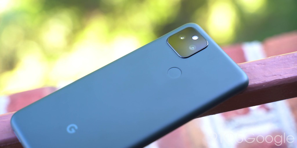 Google Pixel 5a with 5G rear panel and camera layout in Mostly Black