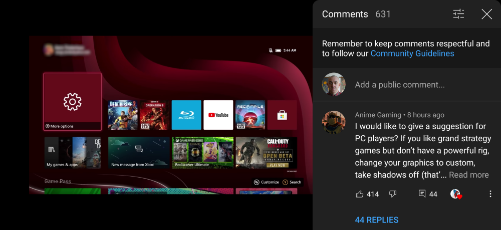 YouTube floating comment window on Android