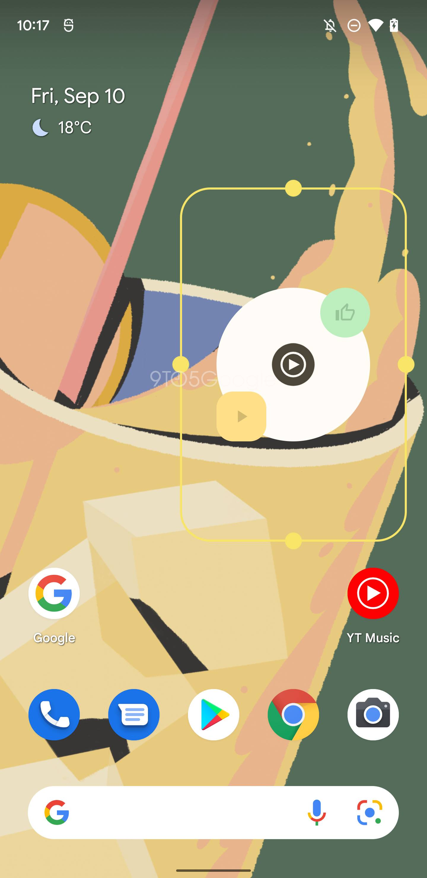 YouTube Music Material You widget