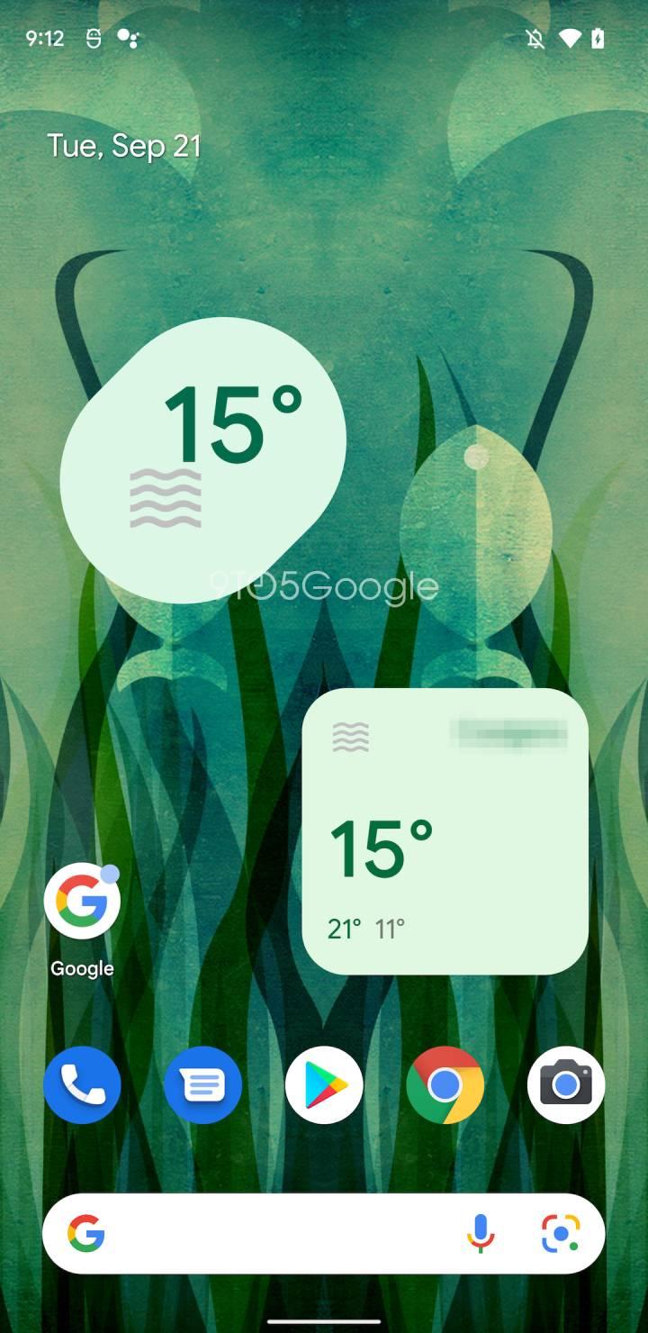 Google Weather Material You widget