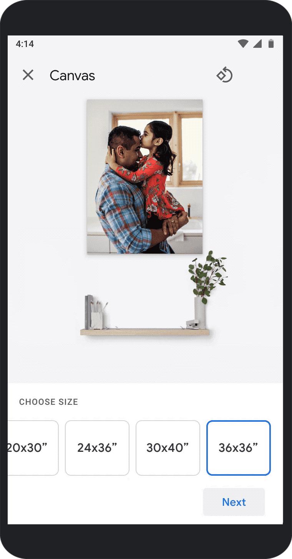 Google Photos prints delivery