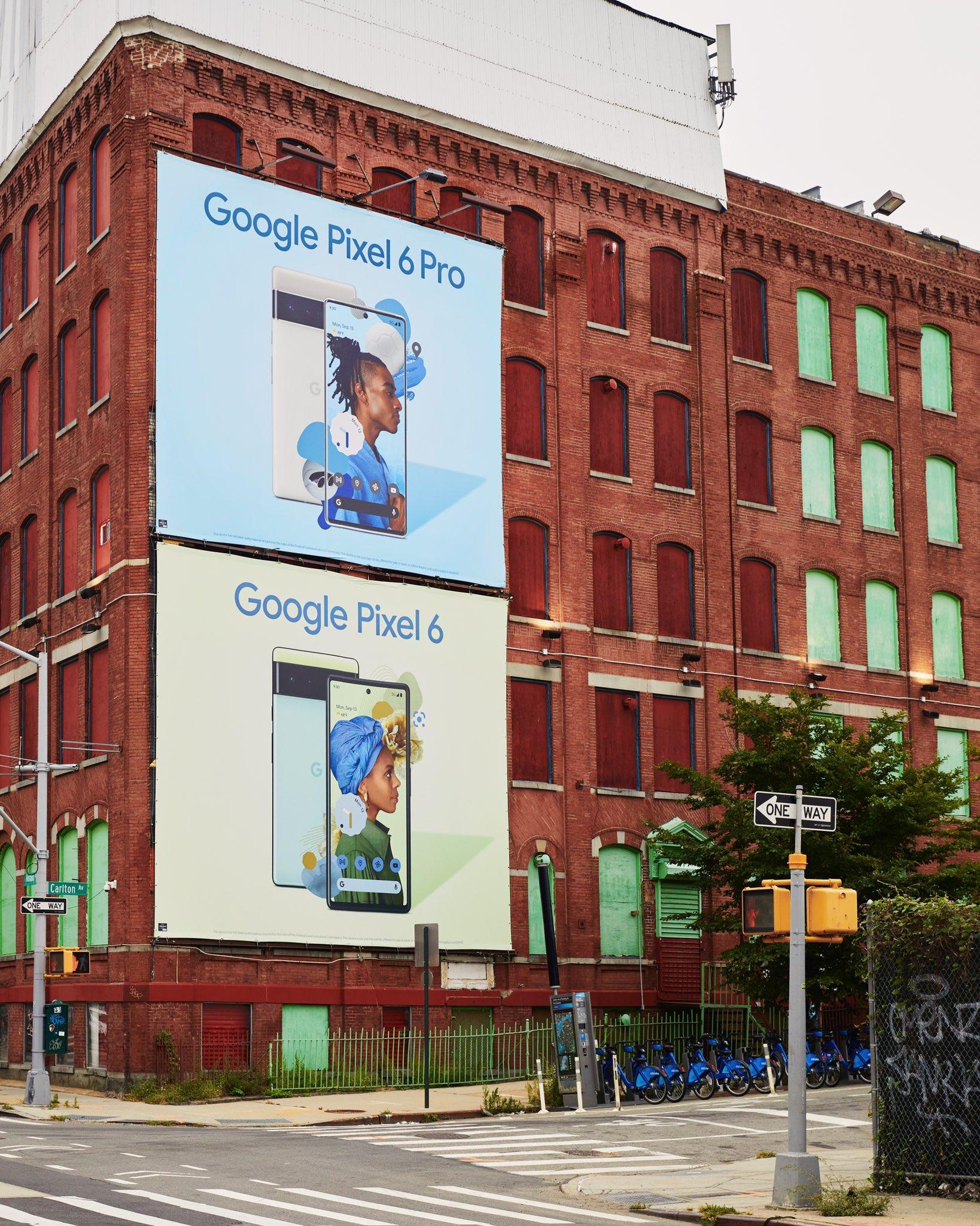 Pixel 6 Pro billboard